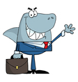 smiled business shark vector image vector image