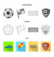 soccer and gear logo set vector image