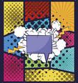 speech bubble comic pop art vector image vector image