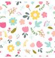 spring or summer flower blooming garden seamless vector image