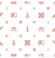 temperature icons pattern seamless white vector image vector image