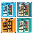 traffic lights and a sign vector image vector image