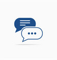 typing in a chat bubble icon comment sign symbol vector image vector image