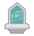window for interior and exterior design use vector image vector image