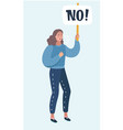 women protesters with no signs vector image vector image