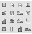 line buildings icon set vector image