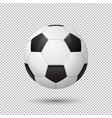 realistic flying soccer ball closeup vector image