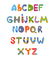 Funny kids colorful alphabet vector image