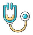 stethoscope icon cartoon style vector image