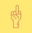 red hand with middle finger icon vector image