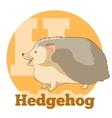 ABC Cartoon Hedgehog2 vector image vector image