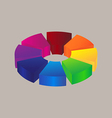 Abstract colorful 3d icon logo design vector image vector image