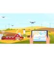 agriculture innovation farm technology cartoon vector image vector image