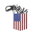 american flag pocket with gun vector image vector image