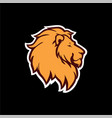 angry lion head logo icon sign black background vector image vector image