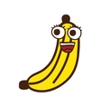 banana character isolated icon design vector image