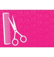 barbershop background with scissors and comb vector image