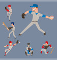 baseball team player sport man in uniform vector image vector image