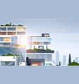 big business center cutaway corporate office vector image