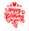 Birthday lettering vector image vector image