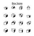 box icons set graphic design vector image