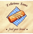 Bread On A Napkin 17 vector image vector image