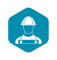 builder icon in simple style vector image vector image
