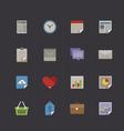 business metro retro icon set vector image vector image