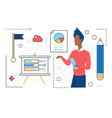 business people work on planning strategy analyze vector image
