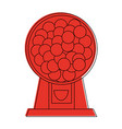candy balls dispenser icon imag vector image vector image