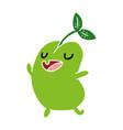 cartoon kawaii cute sprouting bean