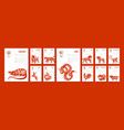 chinese paper year calendar vector image vector image