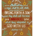 Christmas background with lettering Bible She vector image vector image