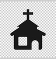 church icon in transparent style chapel on vector image