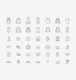 clothing icon set in linear style fashion vector image