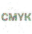 CMYK consisting of colored particles vector image vector image