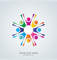 colorful abstract people company logo vector image