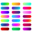 colorful rounded button templates isolated on vector image vector image