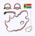 Colors of South Africa vector image