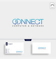 connect text logo template icon element vector image vector image