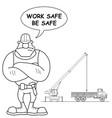 construction site work safe vector image vector image