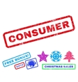 Consumer Rubber Stamp vector image vector image
