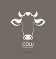 Cow head design on brown background vector image vector image