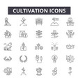 cultivation line icons for web and mobile design vector image vector image