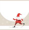 cute gnome ski christmas greeting card vector image vector image