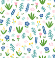 Cute little flowers on white background vector image vector image