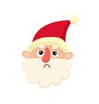 cute santa claus upset cartoon vector image vector image