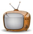 Cute wooden TV vector image vector image