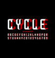 cycle font modern style 3d alphabet vector image vector image