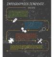 dark infographics vector image vector image